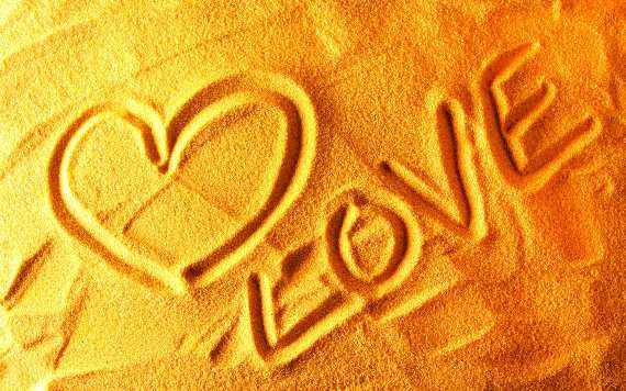 Love Drawn in Sand