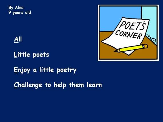 Acrostic Poetry For Kids