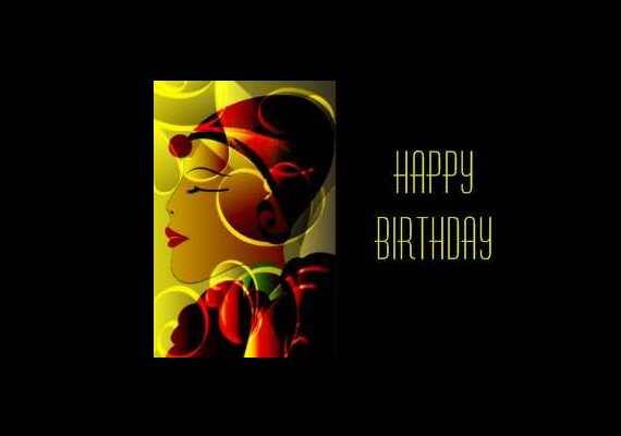 Art Deco Birthday Cards