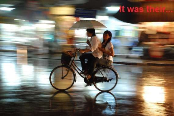 Bicycling in the Rain