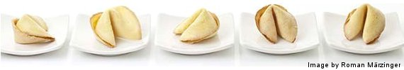 Fortune Cookies on Plate