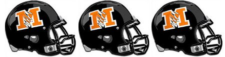 McCamey Football Helmets
