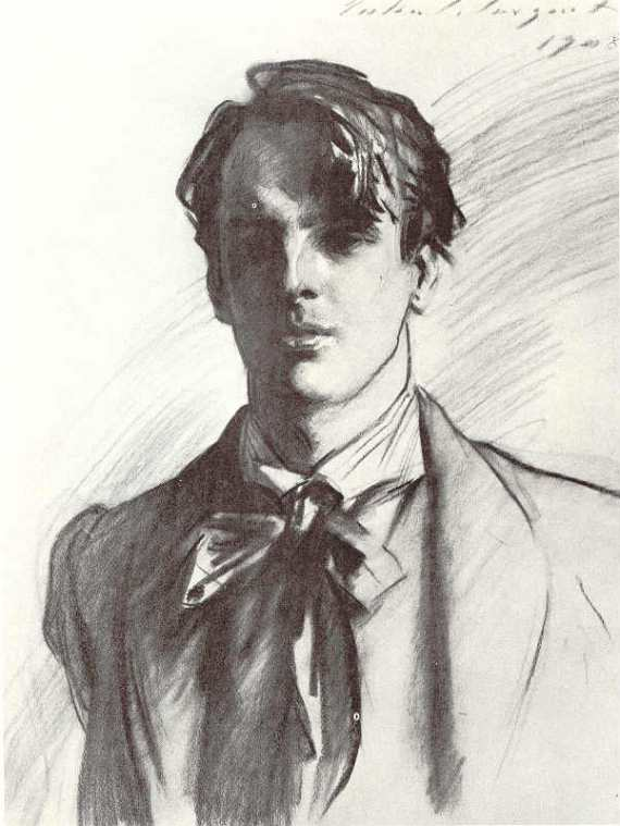 William Butler Yeats by John Singer Sargent