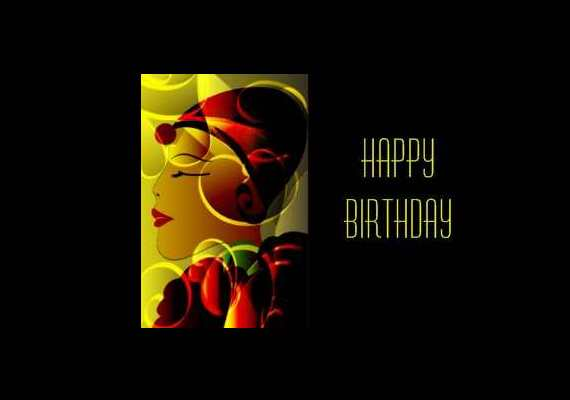 Art Deco Birthday Cards