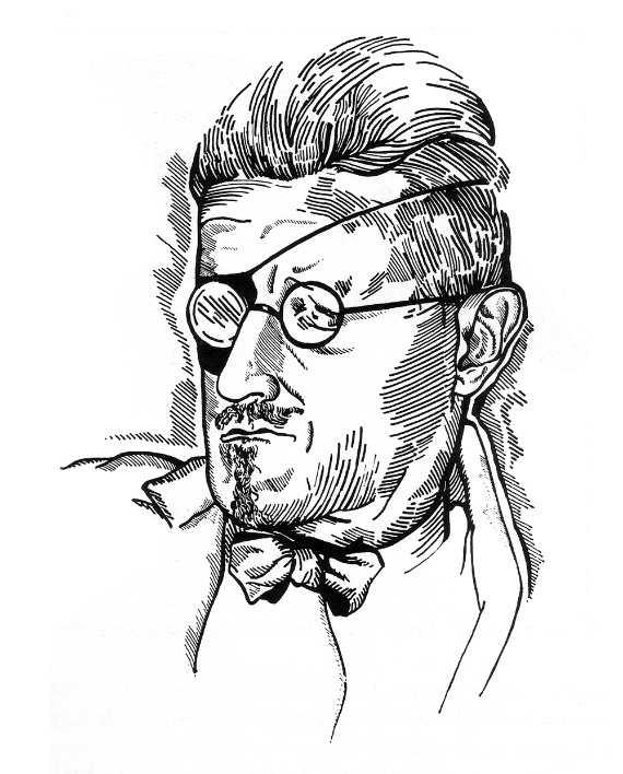 Djuna Barnes Sketch of James Joyce