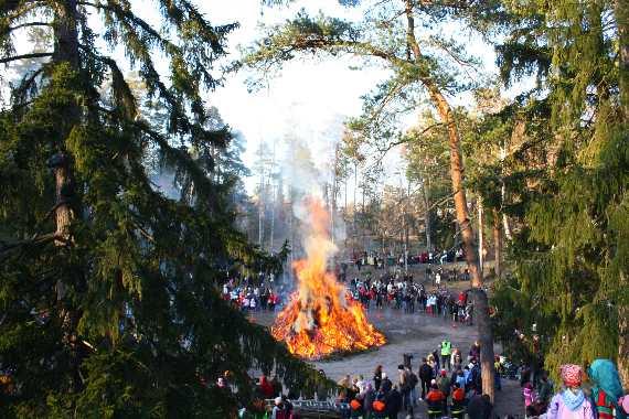 Easter Bonfire in Finland