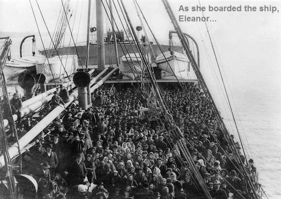 Ellis Island Passengers Aboard Ship