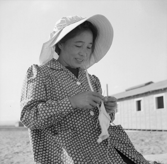 Japanese American Mother at Relocation Center