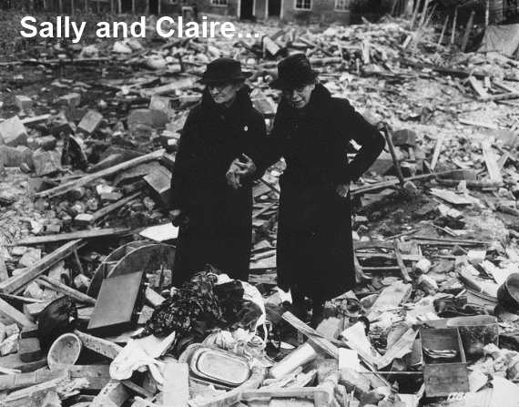 Bombed out Ruins after German Raid over England
