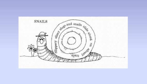 Snail Shape Poem