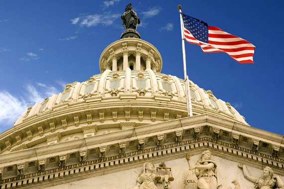 US Capital Dome and Flag