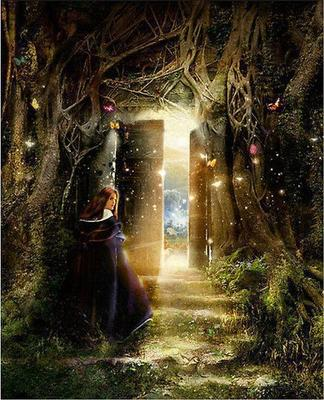 A magical world awaits for The magic elf door