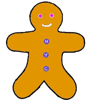 NYC Gingerbread Man
